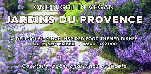 One Vegan Night in Jardins du Provence